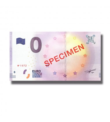 Specimen  Leuchtturm In RED 0 Euro Banknote Uncirculated 004785