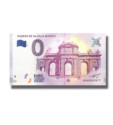 Spain 2018 Puerta De Alcala Madrid 0 Euro Banknote Uncirculated 004799