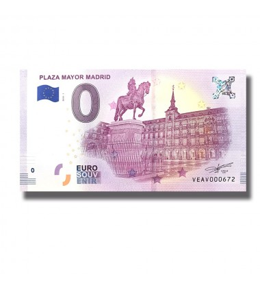 Spain 2018 Plaza Mayor Madrid 0 Euro Banknote Uncirculated 004800