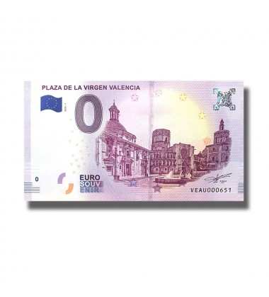 Spain 2018 Plaza De La Virgen Valencia 0 Euro Banknote Uncirculated 004801