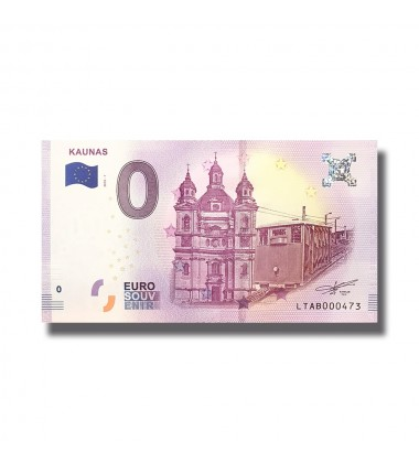 Lithuania 2018 Kaunas 0 Euro Banknote Uncirculated 004805