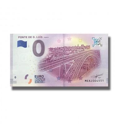 Portugal  2018 Ponte De D. Luis Porto 0 Euro Banknote Uncirculated 004806
