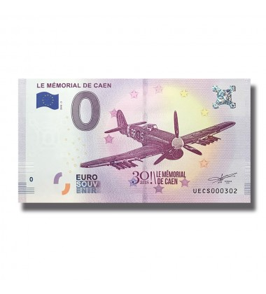 France 2018 Le Memorial De Caen 30 Ans 0 Euro Banknote Uncirculated 004809