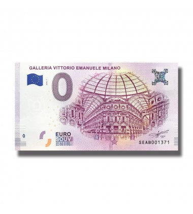 Italy 2018 Galleria Vittorio Emanuele Milano 0 Euro Banknote Uncirculated 004814