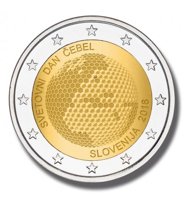 2018 Slovenia World Bee Day 2 Euro Commemorative Coin