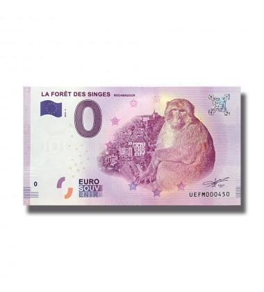 France 2018 La Foret Des Singes Rocamadour 0 Euro Banknote Uncirculated 004834