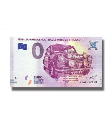 France 2018 Mobilia Kangasala - Rally Museum Finland 0 Euro Banknote Uncirculated 004843