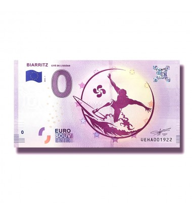 France 2018 Biarritz 0 Euro Banknote Uncirculated 004849