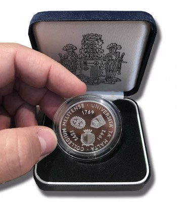 1993 Malta 430 Years Defence of Christian Europe Proof Silver Coin