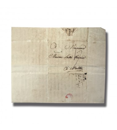1779 Brussels Belgium to Malta Entire Letter Cover Postal History 004912