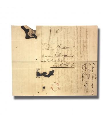 1766 Wien Vienna Austria to Malta Entire Letter Cover Postal History 004903