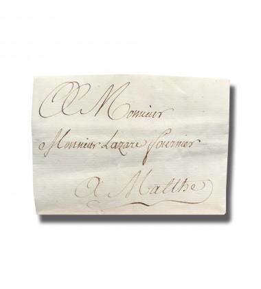 1789 Paris France to Malta Entire Letter Cover Postal History 004908