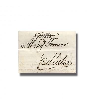 1766 Palermo Sicilia Italy to Malta Entire Letter Cover Postal History 004909