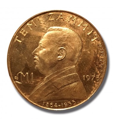 1973 MALTA LM1 SPECIMEN STRUCK IN COPPER RRR