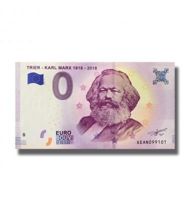 Germany 2018 Trier Karl Marx 1818-2018 0 Euro Banknote 004961