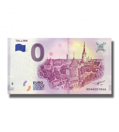 ESTONIA 2018 TALLINN 0 EURO BANKNOTE UNCIRCULATED