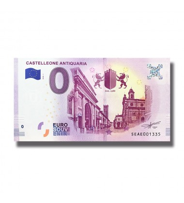 2018 ITALY CASTELLEONE ANTIQUARIA 0 EURO BANKNOTE UNCIRCULATED