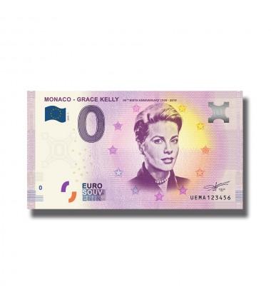 2018 Monaco Grace Kelly 0 Euro Souvenir Banknote 005032