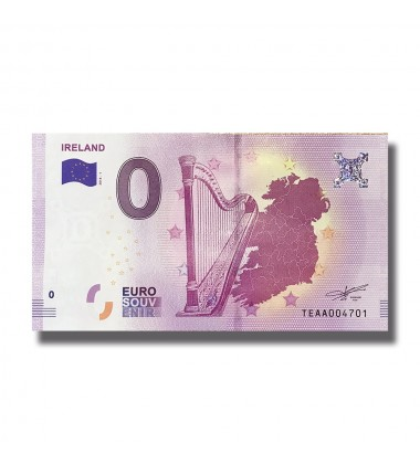 Ireland 2018 Harp 0 Euro Banknote Uncirculated 005035