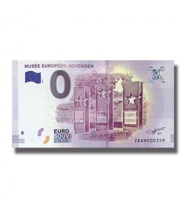 Luxembourg 2018 Musee Europeen Schengen 0 Euro Banknote Uncirculated 005039