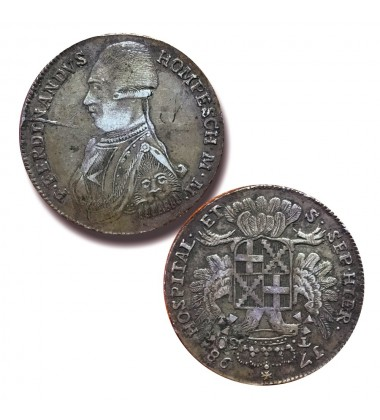 1798 Hompesch 30 tari Silver Coin Knight of Malta Coin