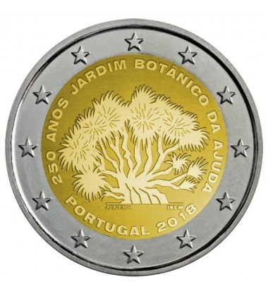 2018 PORTUGAL AJUDA BOTANICAL GARDENS 2 EURO COMMEMORATIVE COIN