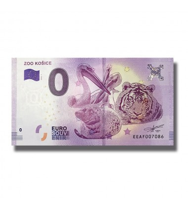 SLOVAKIA 2018 ZOO KOSICE 0 EURO BANKNOTE UNCIRCULATED 005047