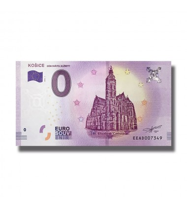 SLOVAKIA 2018 KOSICE 0 EURO BANKNOTE UNCIRCULATED 005048