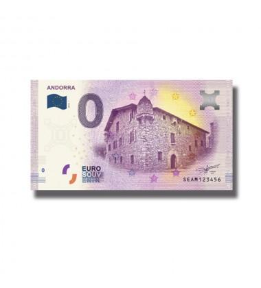 2018 ANDORRA - 0 EURO SOUVENIR BANKNOTE 005049
