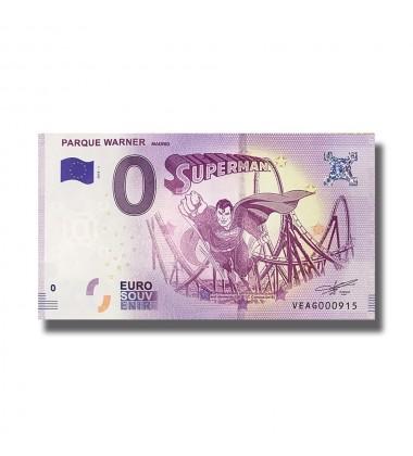 2018 SPAIN PARQUE WARNER MADRID 0 EURO SOUVENIR BANKNOTE 005053