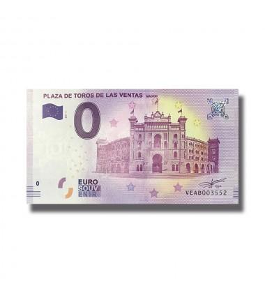 SPAIN 2018 PLAZA DE TOROS DE LAS VENTAS 0 EURO SOUVENIR BANNOTE 005052