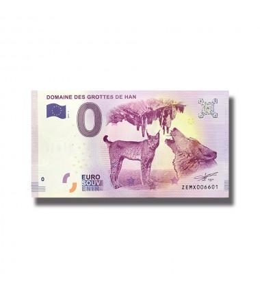 BELGIUM 2018 DOMAINE DE GROTTES DE HAN 0 EURO SOUVENIR BANKNOTE 005065