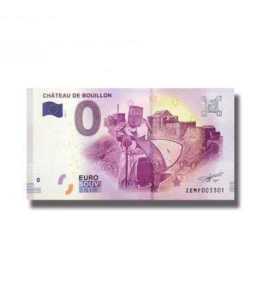 BELGIUM 2018 CHATEAU DE BOUILLON 0 EURO SOUVENIR BANKNOTE 005064