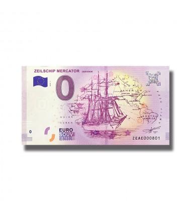 BELGIUM 2018 ZEILSCHIP MERCATOR OOSTENDE 0 EURO SOUVENIR BANKNOTE 005062
