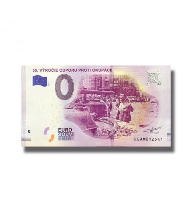 SLOVAKIA 2018 50 VYROCIE ODPORU PROTI OKUPACII 0 EURO SOUVENIR BANKNOTE 005061