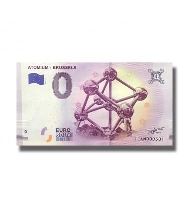 Belgium 2018 Atomium Brussels 0 Euro Souvenir Banknote