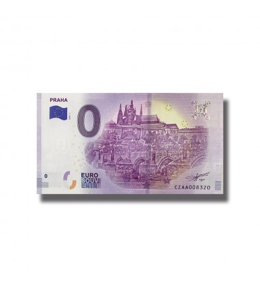2018 CZECK PRAHA 0 EURO SOUVEINR BANKNOTE 005075
