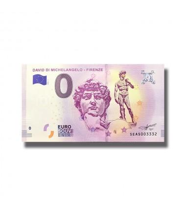 Italy 2018 David Di Michelangelo Firenze 0 Euro Souvenir Banknote 005076
