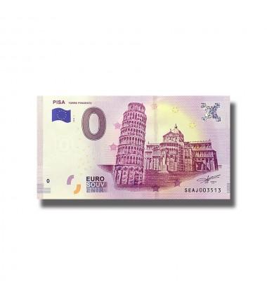 Italy 2018 Pisa Torre Pendente 0 Euro Souvenir Banknote 005077