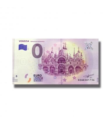 Italy 2018 Venezia Basilica Di San Marco 0 Euro Souvenir Banknote 005078