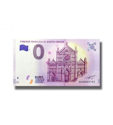 Italy 2018 Firenze Basilica Di Santa Croce 0 Euro Souvenir Banknote 005080