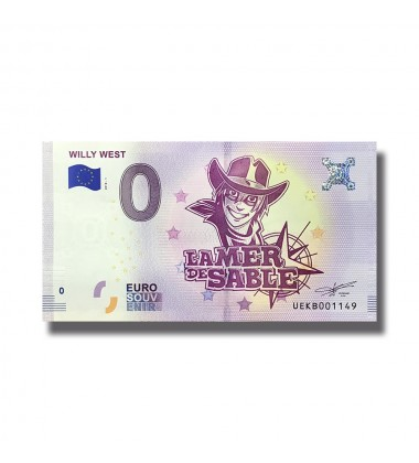 France 2018 Will West La Mer De Sable 0 Euro Souvenir Banknote 005081