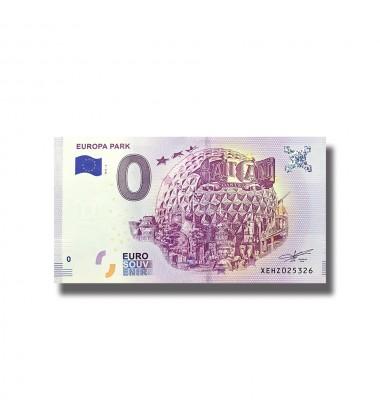 France 2018 Europa Park 0 Euro Souvenir Banknote 005083