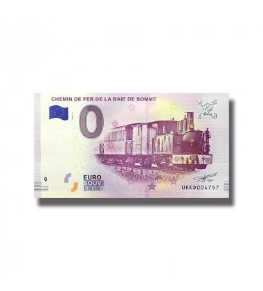 France 2018 Chemin De Fer La Baie De Somme 0 Euro Souvenir Banknote 005085