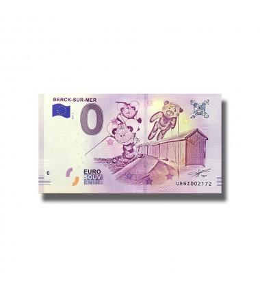 France 2018 Berck-Sur-Mer 0 Euro Souvenir Banknote 005086