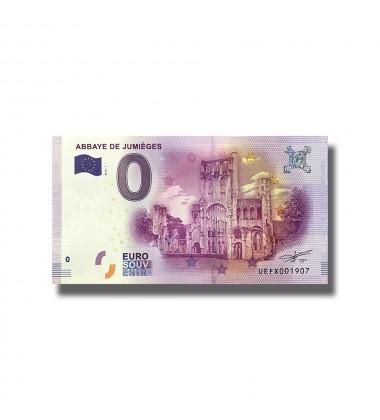 France 2018 Abbaye De Jumieges 0 Euro Souvenir Banknote 005092