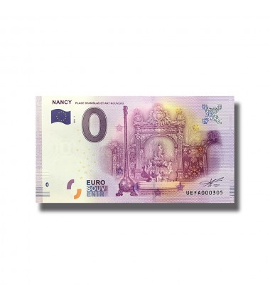 France 2018 Nancy 0 Euro Souvenir Banknote 005093