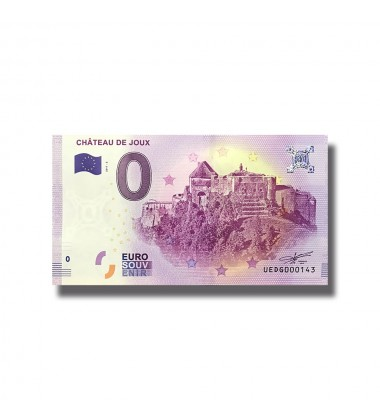 France 2018 Chateaux De Joux 0 Euro Souvenir Banknote 005094