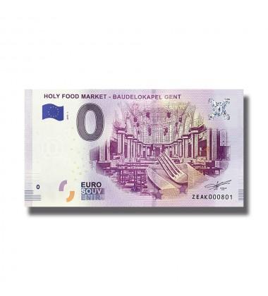 2018 Belgium Holy Food Market Baudelokapel Gent 0 Euro Souvenir Banknote 005098