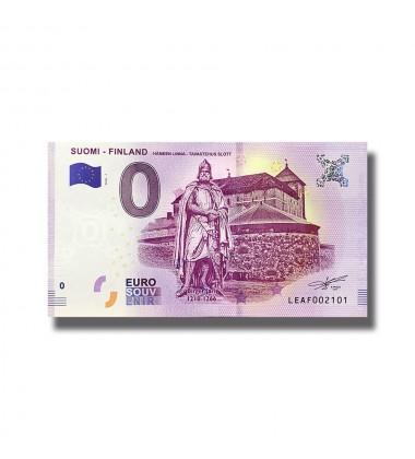 2018 Suomi Finland Hameen Linna 0 Euro Souvenir Banknote 005099